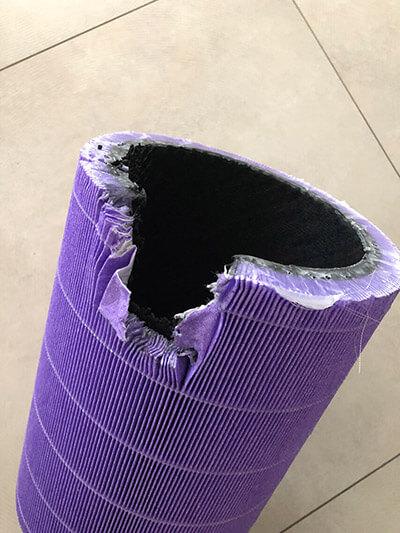 Rozcięty filtr Xiaomi Purple 360°