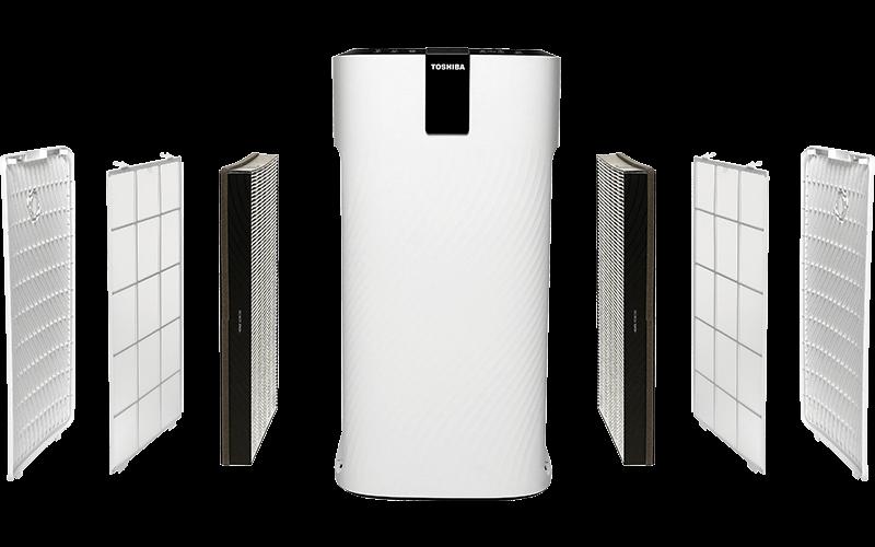 3 filtry z każdej strony w Toshiba CAF-X116XPL