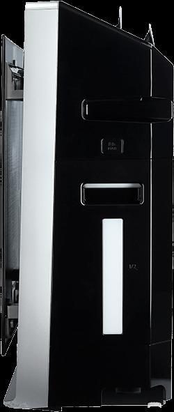 Panasonic F-VXR70G-K widok z boku podczas pracy