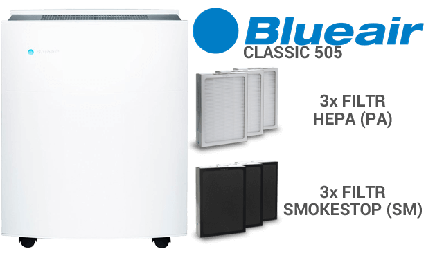Filtr do wyboru w BLUEAIR Classic 505
