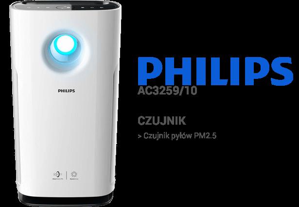 Philips AC3259/10 czujniki
