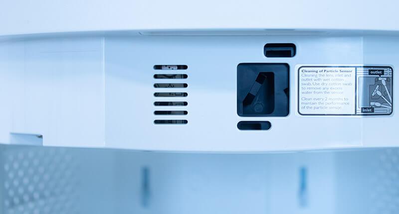 Philips Dual Scan AC3858/50 zbliżenie na czujnik