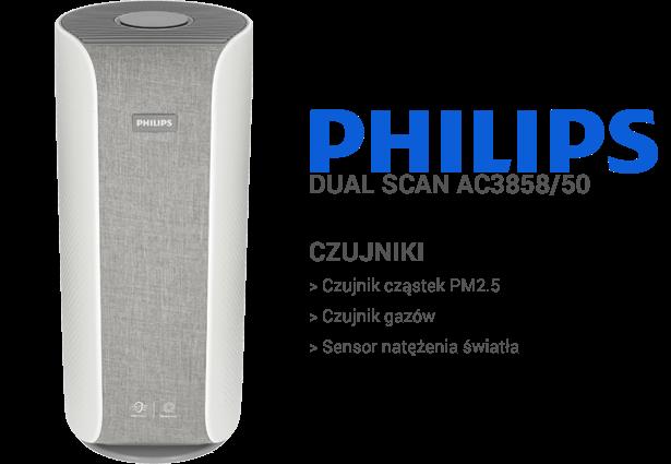 Philips Dual Scan AC3858/50 czujniki