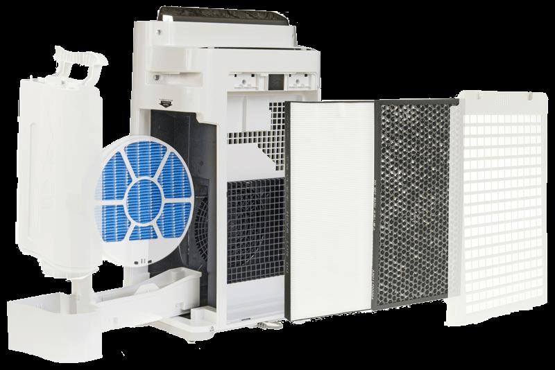 4 filtry w Sharp KC-D50EUW
