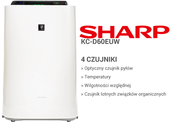 Sharp KC-D60EUW czujniki