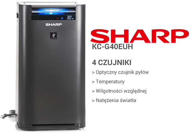 Sharp KC-G40EUH czujniki