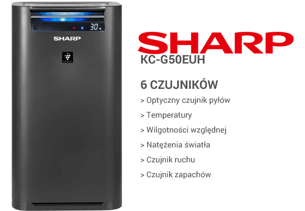 Sharp KC-G50EUH czujniki
