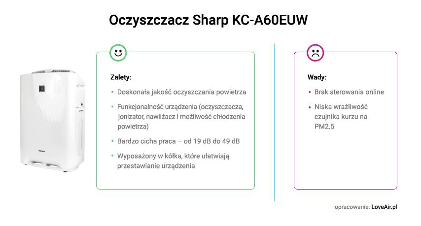 Wady i zalety oczyszczacza Sharp KC-A60EUW